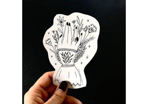 Silvia Santa Maria Silvia Santamaria - Victorian Hand - Sticker