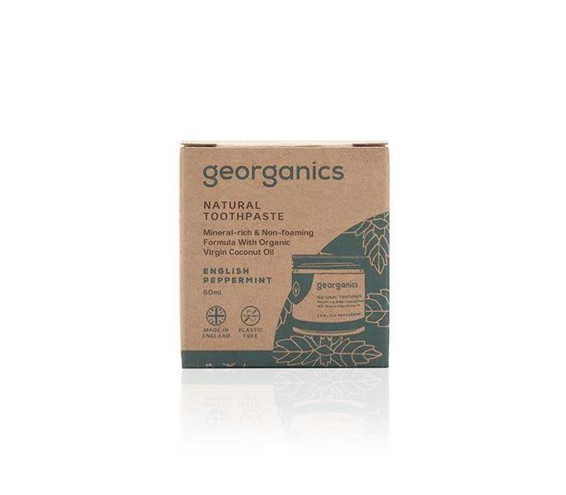 Georganics - Natural Mineral-rich Toothpaste - English Peppermint  60ml