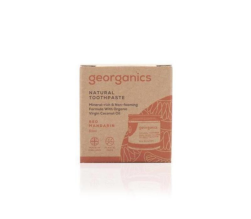 Georganics - Natural Mineral-rich Toothpaste - Red Mandarin 60ml