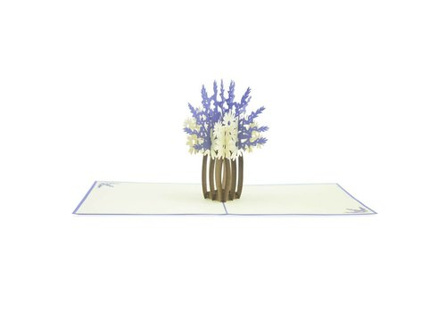 XiuXiu XiuXiu - Lavender Flowers - Greeting Card