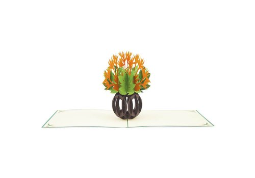 XiuXiu XiuXiu - Orange Flowers - Greeting Card