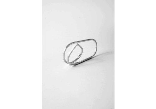 Naida C. castel Naida C. Castel - Angle Double Ring Silver