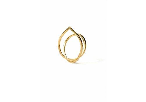 Naida C. castel Naida C. Castel - Angle Ring Gold