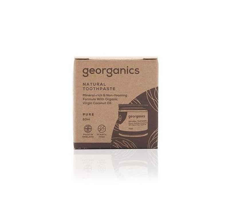 Georganics - Natural Mineral-rich Toothpaste - Pure Coconut 60ml