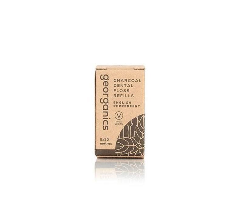 Georganics - Refill Dental Floss Carbon - English Peppmint