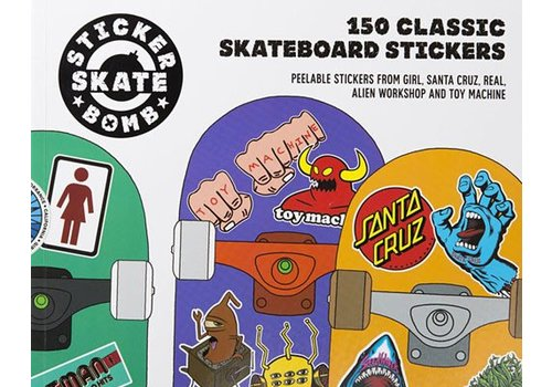 Laurence King Stickerbomb Skateboard: 150 Classic Skateboard Stickers