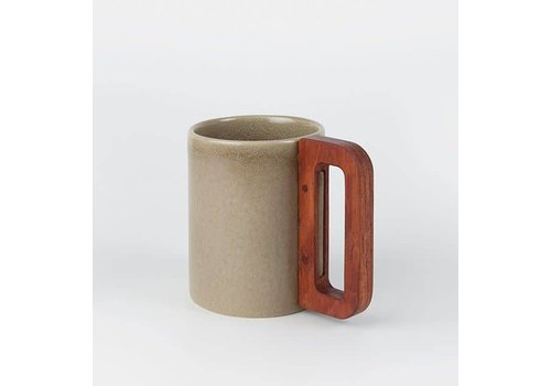 Matimanana Matimañana - Beige Mug with Wooden Handle