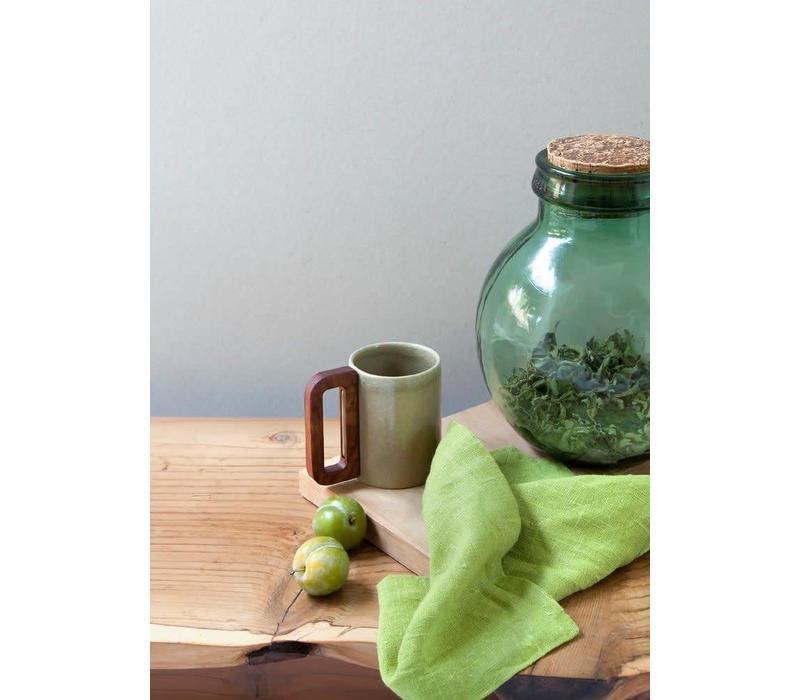 Matimañana - Beige Mug with Wooden Handle