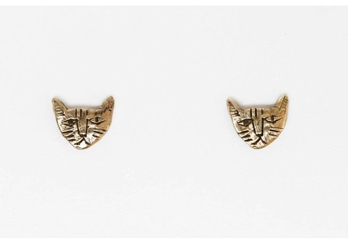 Datter Industries Datter Industries - Tiny Cat Earrings - Brass