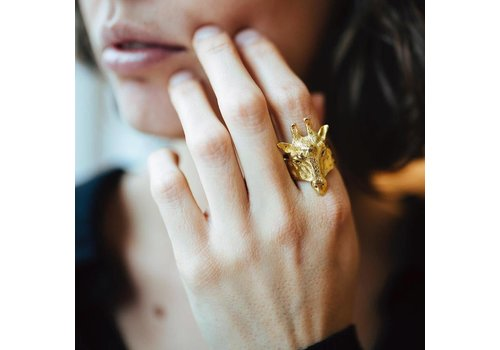 Michi Roman Michi Roman - Giraffe Ring - Gold plated Silver