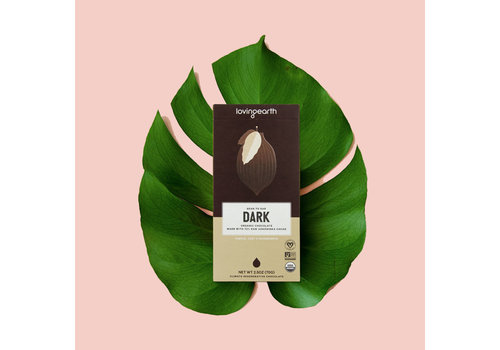 Loving Earth Loving Earth - Dark Chocolate - 80 Gram Bar