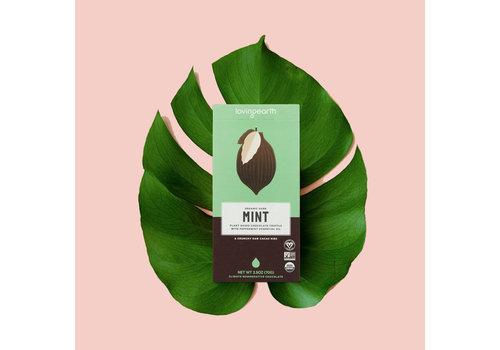 Loving Earth Loving Earth - Crunchy Mint Dark Chocolate - 80 Gram Bar