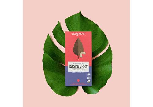 Loving Earth Loving Earth - Raspberry Cashew Mylk Chocolate - 80 Gram Bar