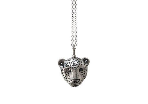Michi Roman Michi Roman - Leopard Necklace Silver