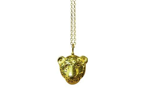 Michi Roman Michi Roman - Leopard Necklace Gold plated Silver
