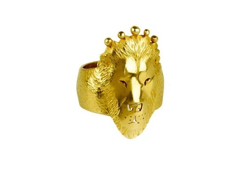 Michi Roman Michi Roman - Lion Ring - Gold Plated Silver