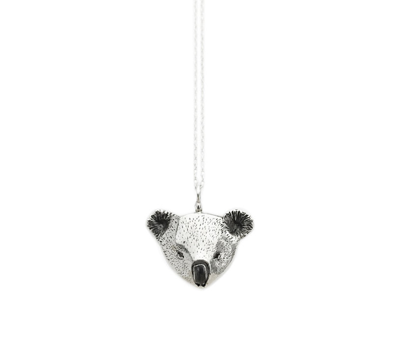 Michi Roman - Koala Necklace Silver