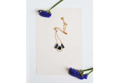 Pithy Pithy - Collection N.11 - Necklace Deep Blue / White