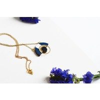 Pithy - Collection N.11 - Necklace Deep Blue / White