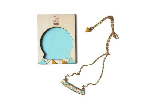 Pithy Pithy - Tess Turquoise Triangle - Necklace