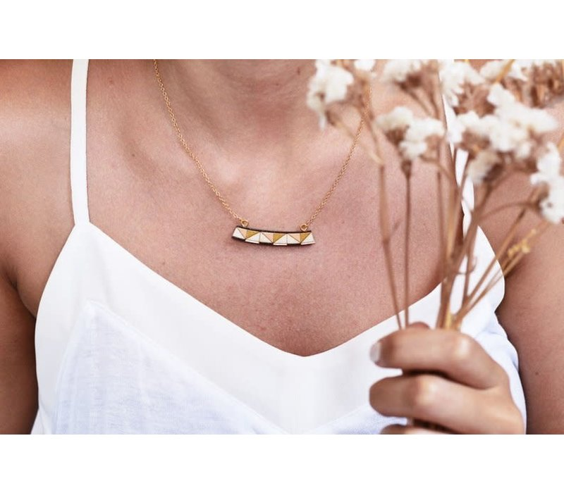 Pithy - Tess Mustard Triangle  - Necklace