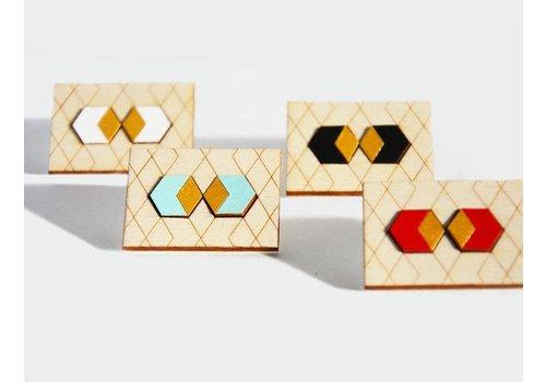 Pithy Pithy - Hexagon - Earrings