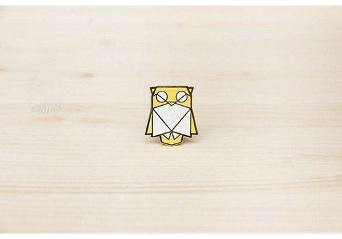 Hug a Porcupine Hug a Porcupine - Owl Brooch Yellow