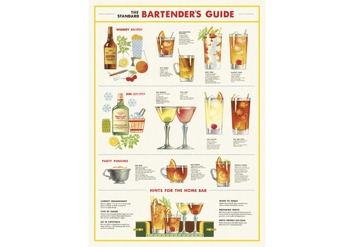 Cavallini Papers & Co Cavallini - Bartender's Guide - Wrap/Poster