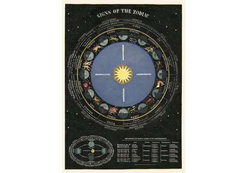 Cavallini Papers & Co Cavallini - Zodiac Chart - Wrap/Poster