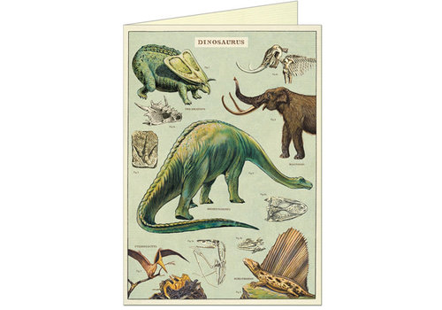 Cavallini Papers & Co Cavallini - Dinosaurs - Greeting Card