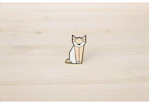 Hug a Porcupine Hug a Porcupine - Origami Cat Brooch Pink