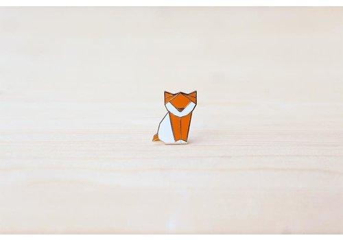 Hug a Porcupine Hug a Porcupine - Origami Kitten Brooch Orange