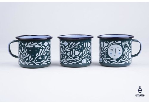 Lisa Junius Lisa Junius - Green Man and Luna - Enamel Mug