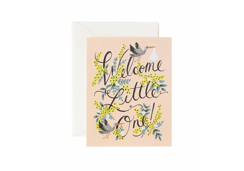 Rifle Paper Rifle Paper Co. - Welcome Little One - Greeting Card