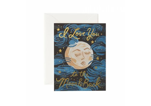 Rifle Paper Rifle Paper Co. - To the Moon and Back - Greeting Card
