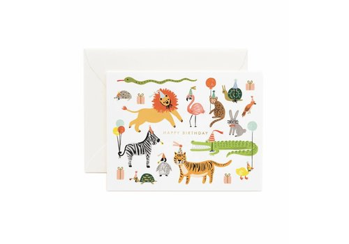 Rifle Paper Rifle Paper Co. - Party Animals - Greeting Card