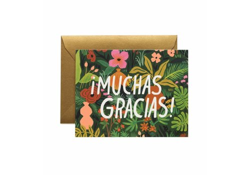 Rifle Paper Rifle Paper Co. - Muchas Gracias! - Greeting Card