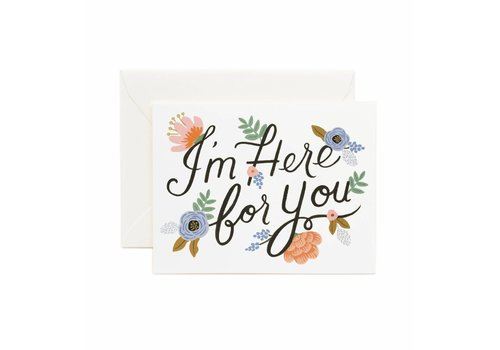 Rifle Paper Rifle Paper Co. - Here for you - Greeting Card