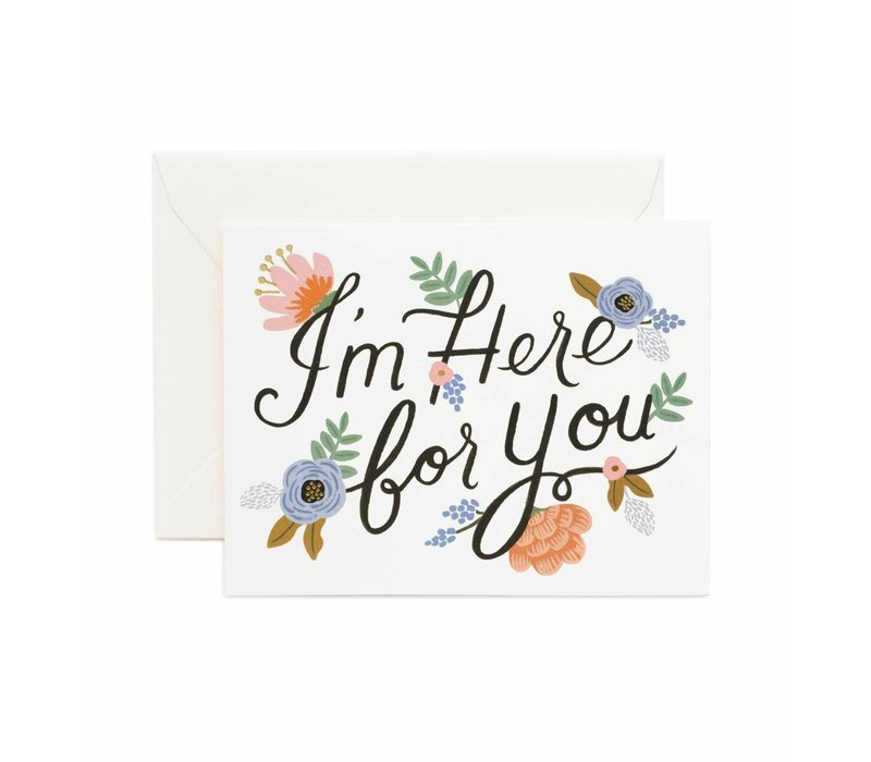 Rifle Paper Co. - Here for you - Greeting Card
