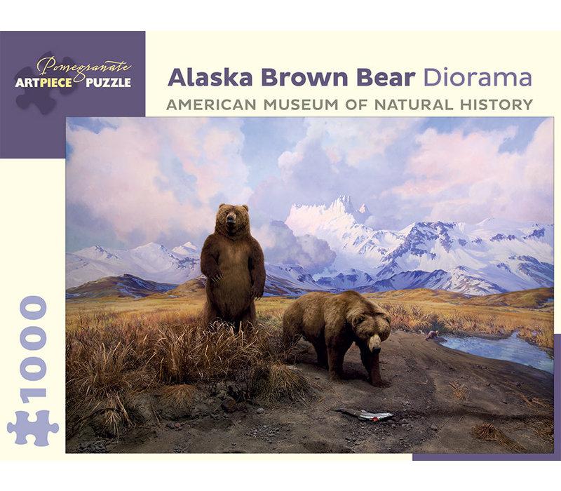 Pomegranate - Alaska Brown Bear Diorama - 1000 Pieces Puzzle