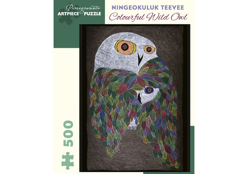 Pomegranate Pomegranate - Ning. Teevee: Colourful Wild Owl - 500 Pieces Puzzle