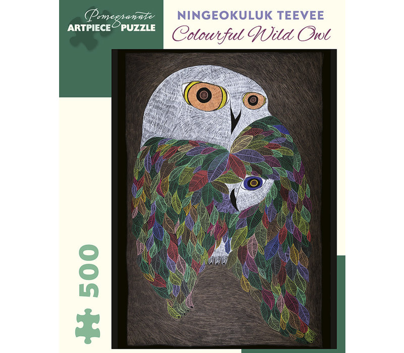 Pomegranate - Ning. Teevee: Colourful Wild Owl - 500 Pieces Puzzle