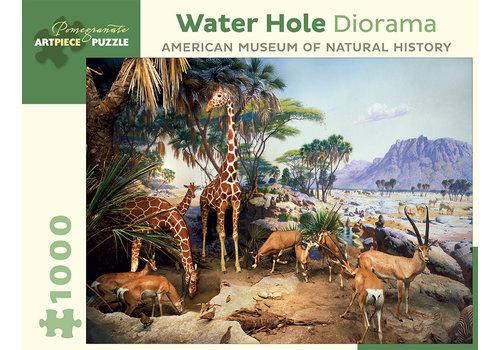 Pomegranate Pomegranate - Water Hole Diorama - 1000 Pieces Puzzle