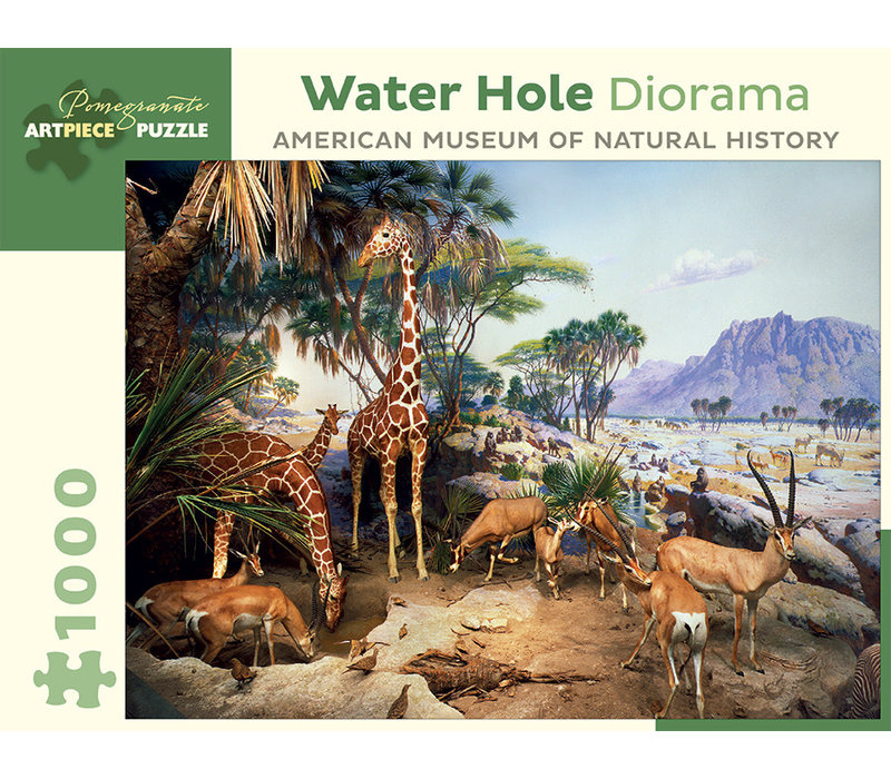 Pomegranate - Water Hole Diorama - 1000 Pieces Puzzle