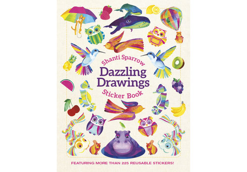 Pomegranate Pomegranate - Shanti Sparrow: Dazzling Drawings - Sticker Book