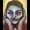 Alicia Borssen Alicia Borssen - Joker girl red eyes  - A3 Print