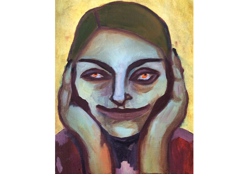 Alicia Borssen Alicia Borssen - Joker girl red eyes  - A3 Print