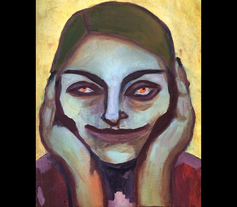 Alicia Borssen - Joker girl red eyes  - A3 Print