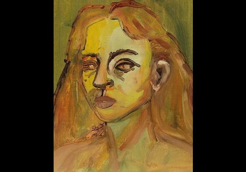 Alicia Borssen Alicia Borssen - Everything in orange and yellow (self portrait) - A3 Print