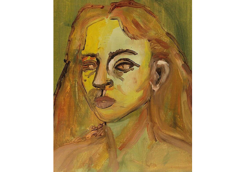 Alicia Borssen Alicia Borssen - Self Portrait (Everything in orange and yellow) - A3 Print